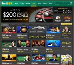 A Screenshot of the Real Money Slots Games at Bet365 Casino